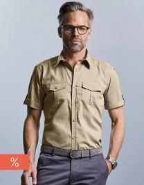 Men´s Roll Short Sleeve Twill Shirt
