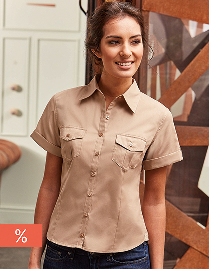 Ladies´ Roll Short Sleeve Twill Shirt